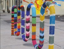 A photo of Streetspun Yarnbombing