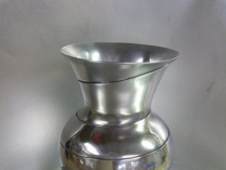 A photo of Aluminum Spiral Vase