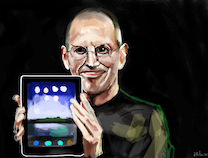 Photo of Portraits Painted by an iPad Junkie, Fingerpainted from Scratch on an iPad