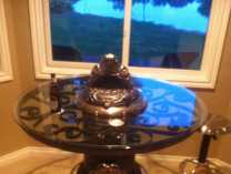 A photo of Antique Stove Bistro Table