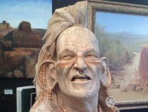 A photo of The Lost Art of Stone Sculpture: Mohican Warrior