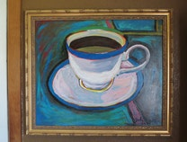 Photo of Blue Coffee Cup