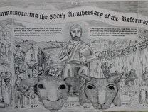 Photo of Broadsheet Commemorating the 500th Anniversary of the Reformation