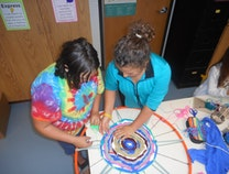 Photo of Over, Under and Around! - Collaborative Hoop Weaving