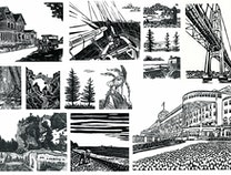 Photo of Block Print Series of Mackinac Island
