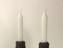 Photo of Sparks, Shabbat Candlesticks
