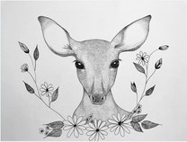 Photo of A Fawn in the Flowers