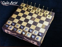 Photo of Guitar Chess Board
